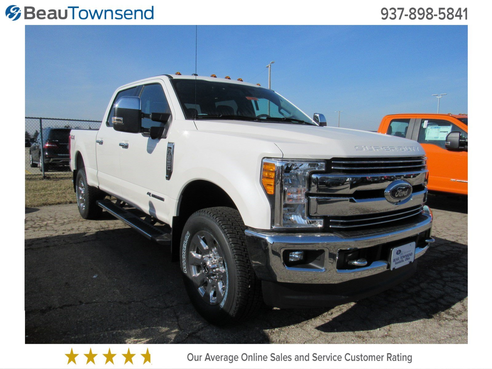 new 2017 ford super duty f 250 srw lariat crew cab pickup in vandalia 17t0555 beau townsend. Black Bedroom Furniture Sets. Home Design Ideas